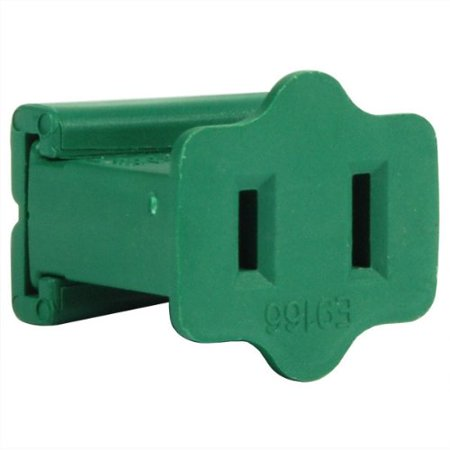 Green - Female Gilbert Replacement Plug for Commercial Christmas Lights - SPT-2 Rated - 12 Pack By Christmas Lite Co. ()