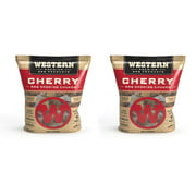 Western BBQ Smoking Barbecue Pellet Wood Cooking Chip Chunks, Cherry (2-Pack)