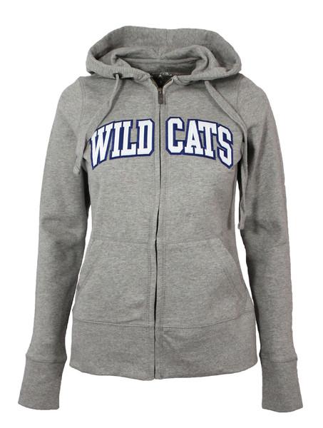 Ladies Wildcats Full-Zip Hooded Jacket (grey) by Antigua
