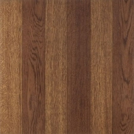 Achim Tivoli Medium Oak Plank-Look 12x12 Self Adhesive Vinyl Floor Tile - 45 Tiles/45 sq. Ft