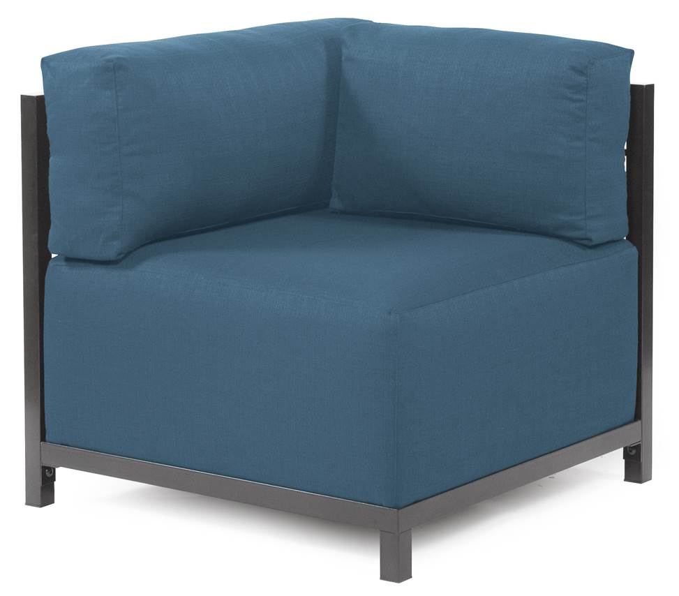 Corner Chair in Turquoise by Howard Elliott Collection
