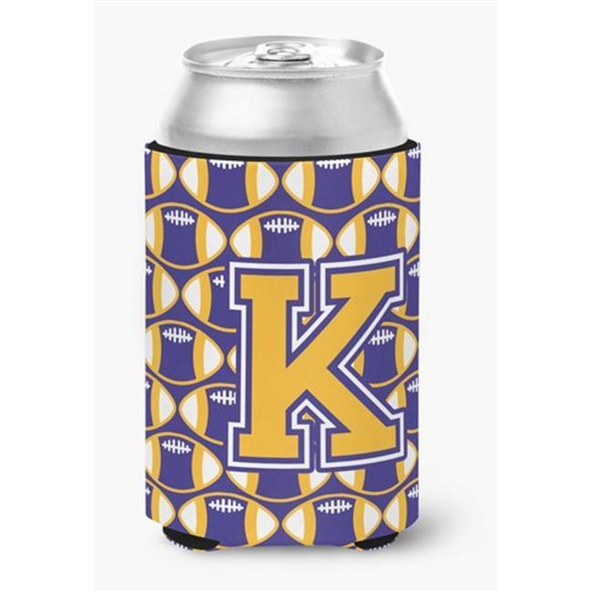 Letter K Football Purple & Gold Can or Bottle Hugger - image 1 de 1