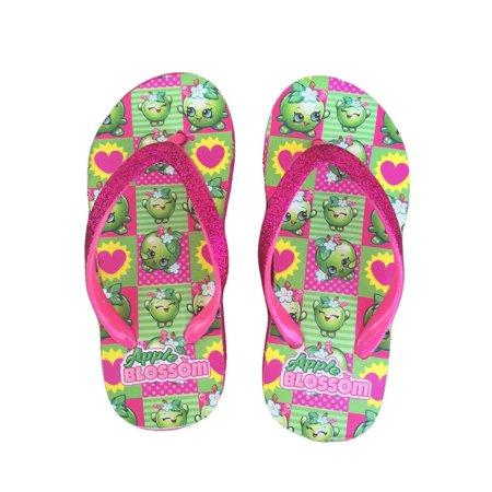 Apple Sandals (Shopkins Apple Blossom Girls Wedge Flip Flop Sandals | 11/12 )