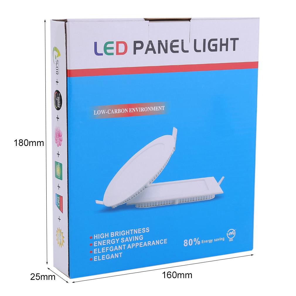 Square 10 Pcs 9W LED Recessed Ceiling Panel Light Down Light Bulb Lamp 800 lm Natural White