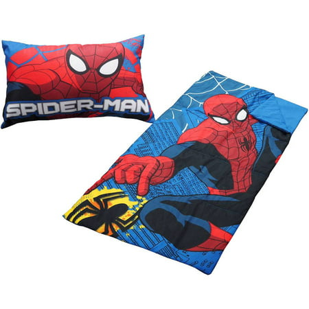 Marvel Spider Man 2 Piece Sleeping Bag Set