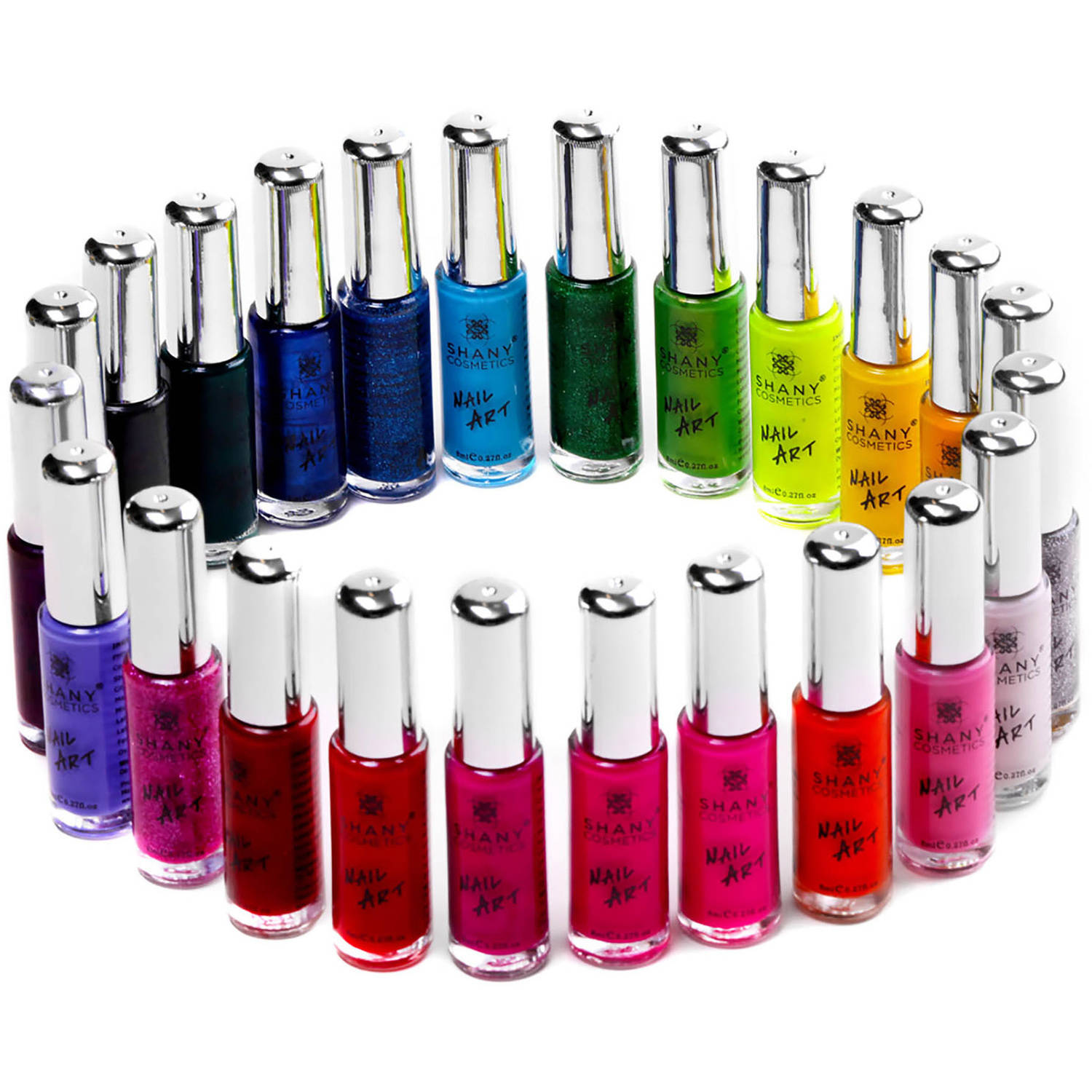 SHANY Cosmetics Nail Art Nail Polish Set, 0.27 fl oz, 24 count