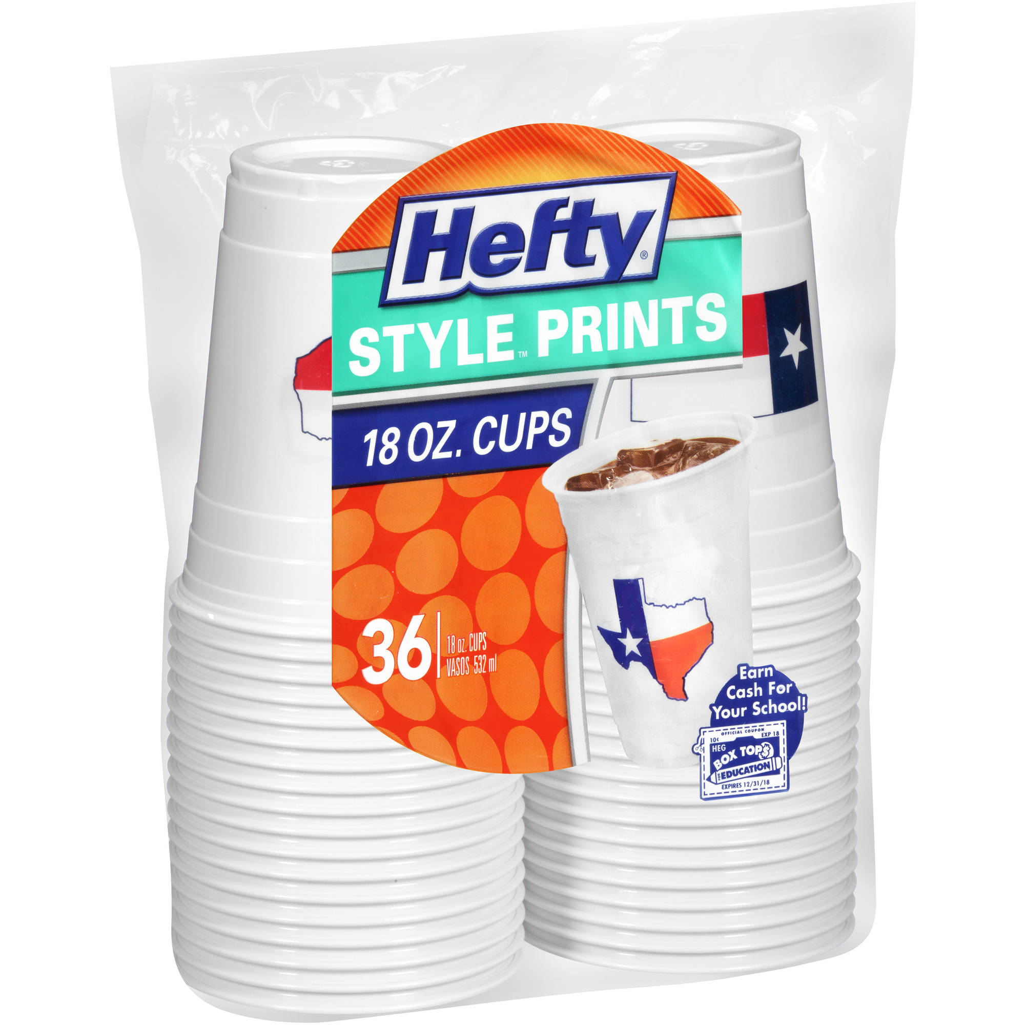 Hefty Texas State Cups 36ct
