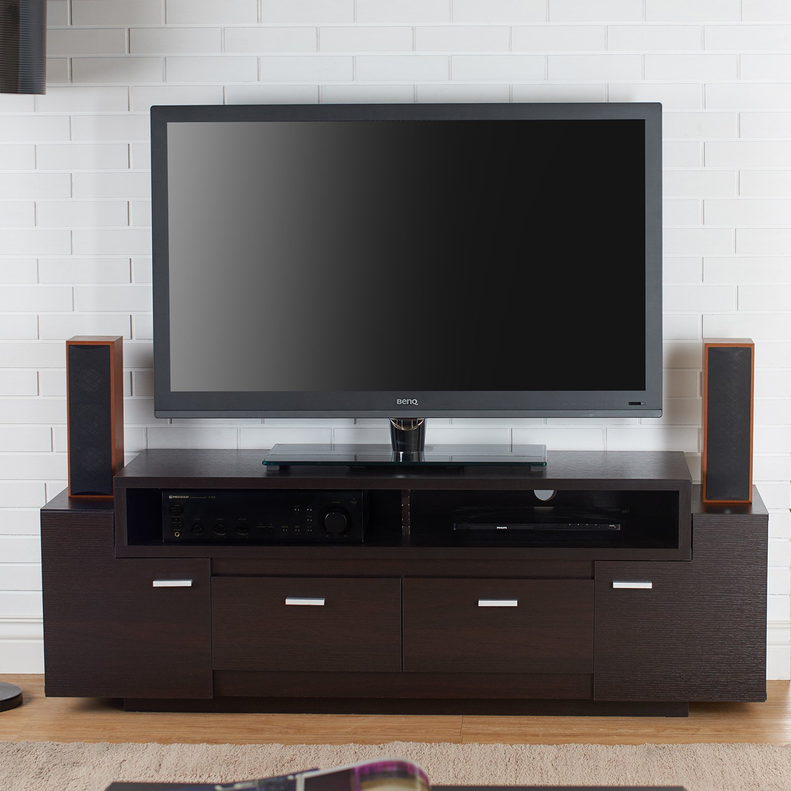 Furniture of America Jameson 2 Drawer TV Stand