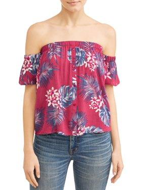 294fd5700 Black Juniors Blouses & Shirts - Walmart.com
