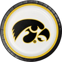 University of Iowa Paper Plates, 8pk