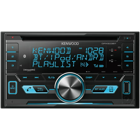KENWOOD DPX503BT Double-DIN In-Dash AM/FM CD Receiver with Bluetooth & SiriusXM Ready ()