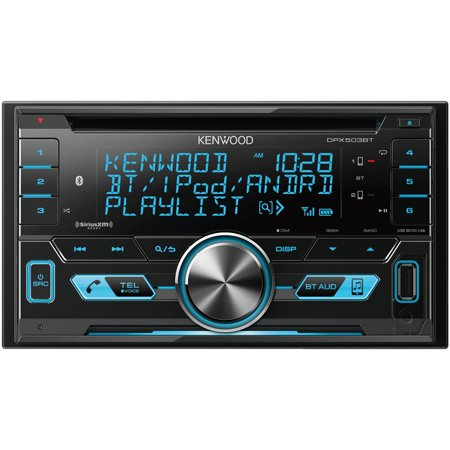 KENWOOD DPX503BT Double-DIN In-Dash AM/FM CD Receiver with Bluetooth & SiriusXM