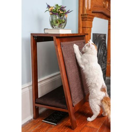 The Refined Feline A Frame Cat Bed With Scratcher End