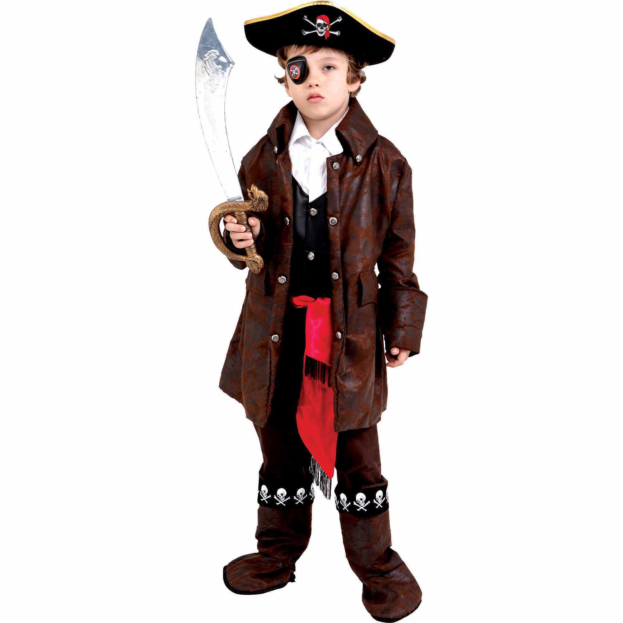 Caribbean Boy Pirate Child Halloween Costume