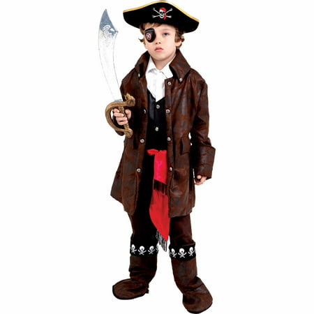 Caribbean Boy Pirate Child Halloween Costume - Pirates Costumes Kids