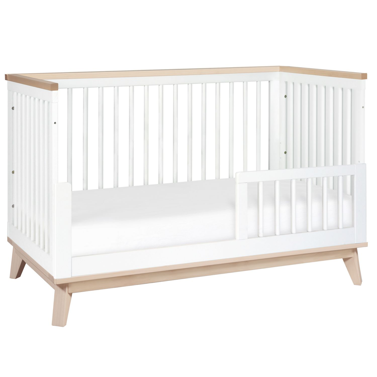 today pine modo bed toddler shipping convertible product free overstock garden conversion crib home cribs with babyletto wood kit in