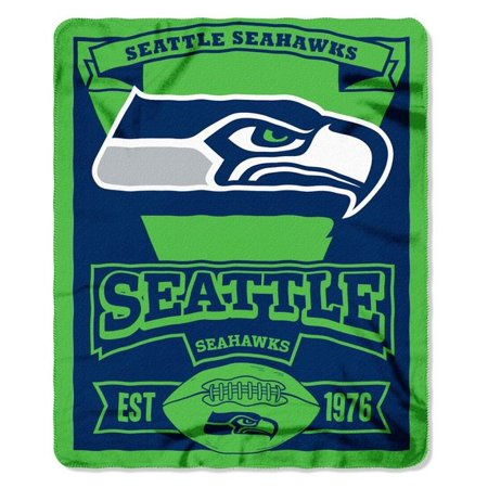 NFL Seattle Seahawks Team Color 40x40 Fleece Throw Blanket Walmart Cool Team Throw Blankets
