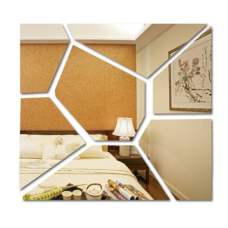 1-70 PCS Removable Peel and Stick Wall Decals 3D Acrylic Removable Mirror Tile Acrylic Mirror Sheets Mirror Decal Art Mural Wall Sticker Home Room Decor DIY 3d Peel Off Stickers
