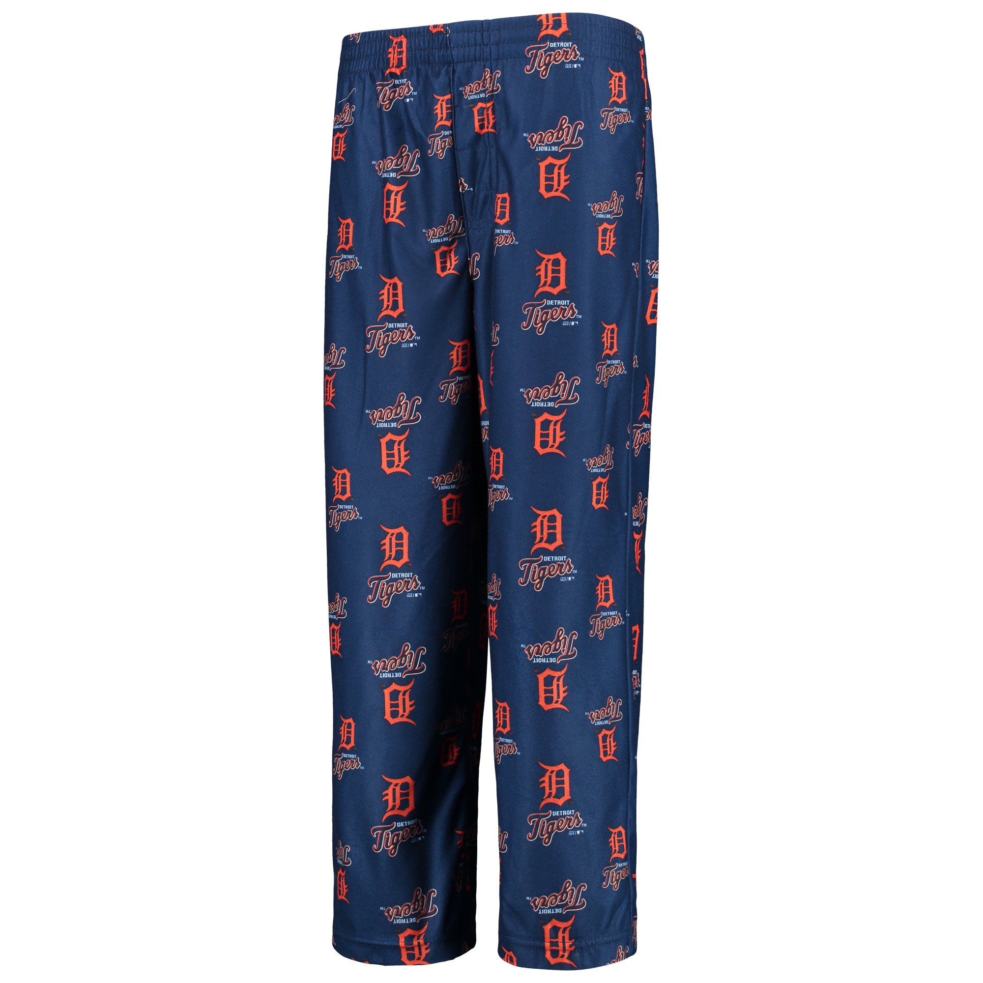 Detroit Tigers Youth Team Color Printed Logo Pants - Navy