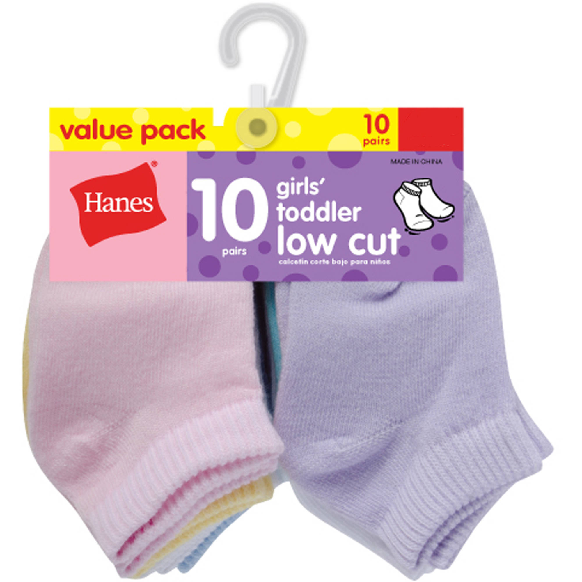Hanes Newborn Baby Girl Low Cut Socks - 10 Pack