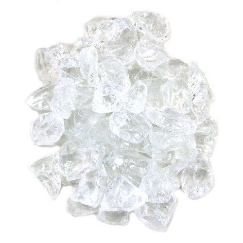 Koyal Wholesale Centerpiece Vase Filler Decorative Glass Chunks/Ice, 8.2-Pound, Clear