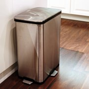 Itouchless 13 Gallon Step Sensor Stainless Steel Trash Can Automatic Kitchen With Unique