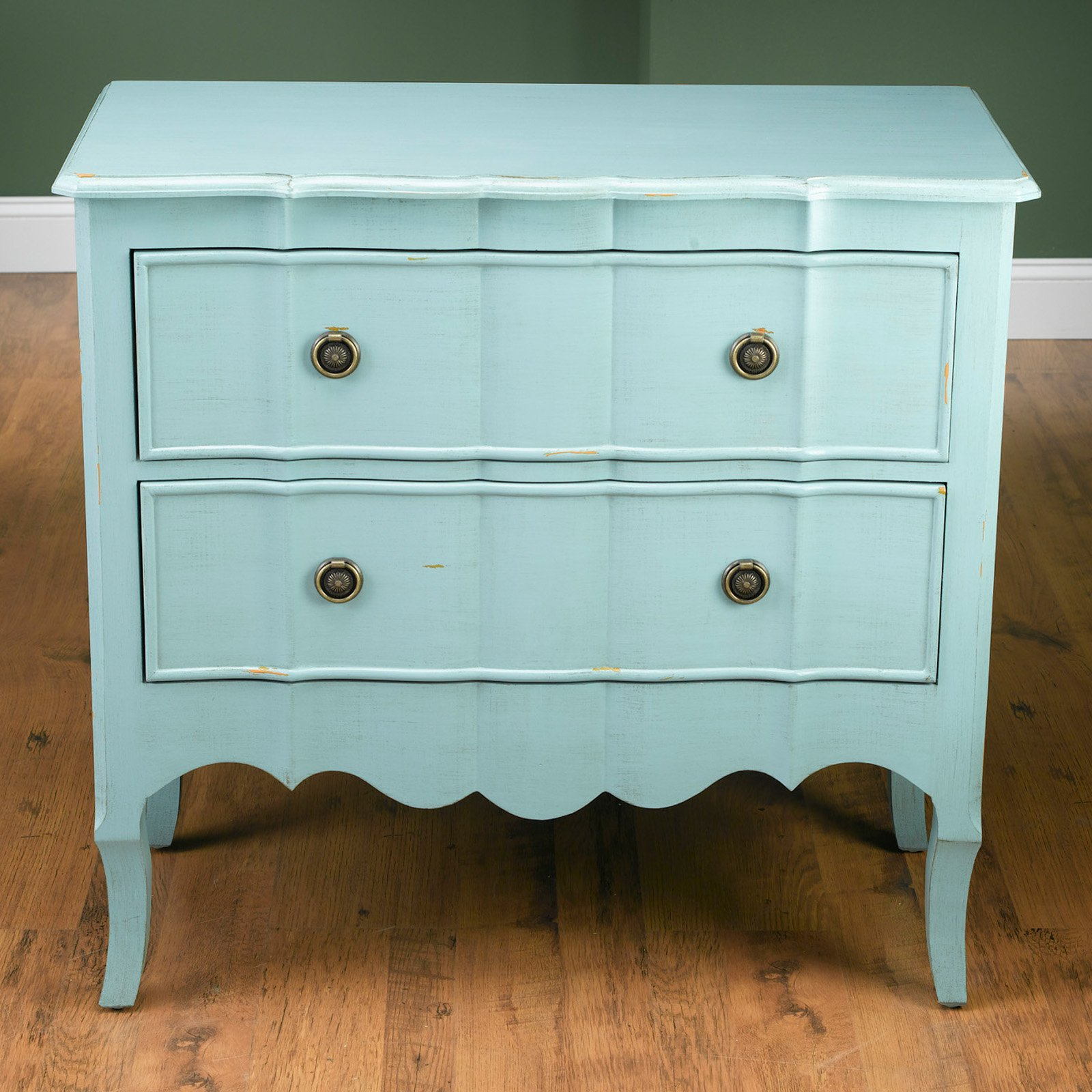 AA Importing 2 Drawer Chest - Blue