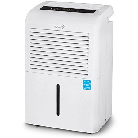 Ivation 70 Pint Energy Star Dehumidifier WITH PUMP - Large-Capacity For Spaces Up To 4,500 Sq Ft - Includes Built In Drain-Pump, Programmable Humidistat, Hose Connector, Auto Shutoff / Restart, Caster Built In Drain Pump
