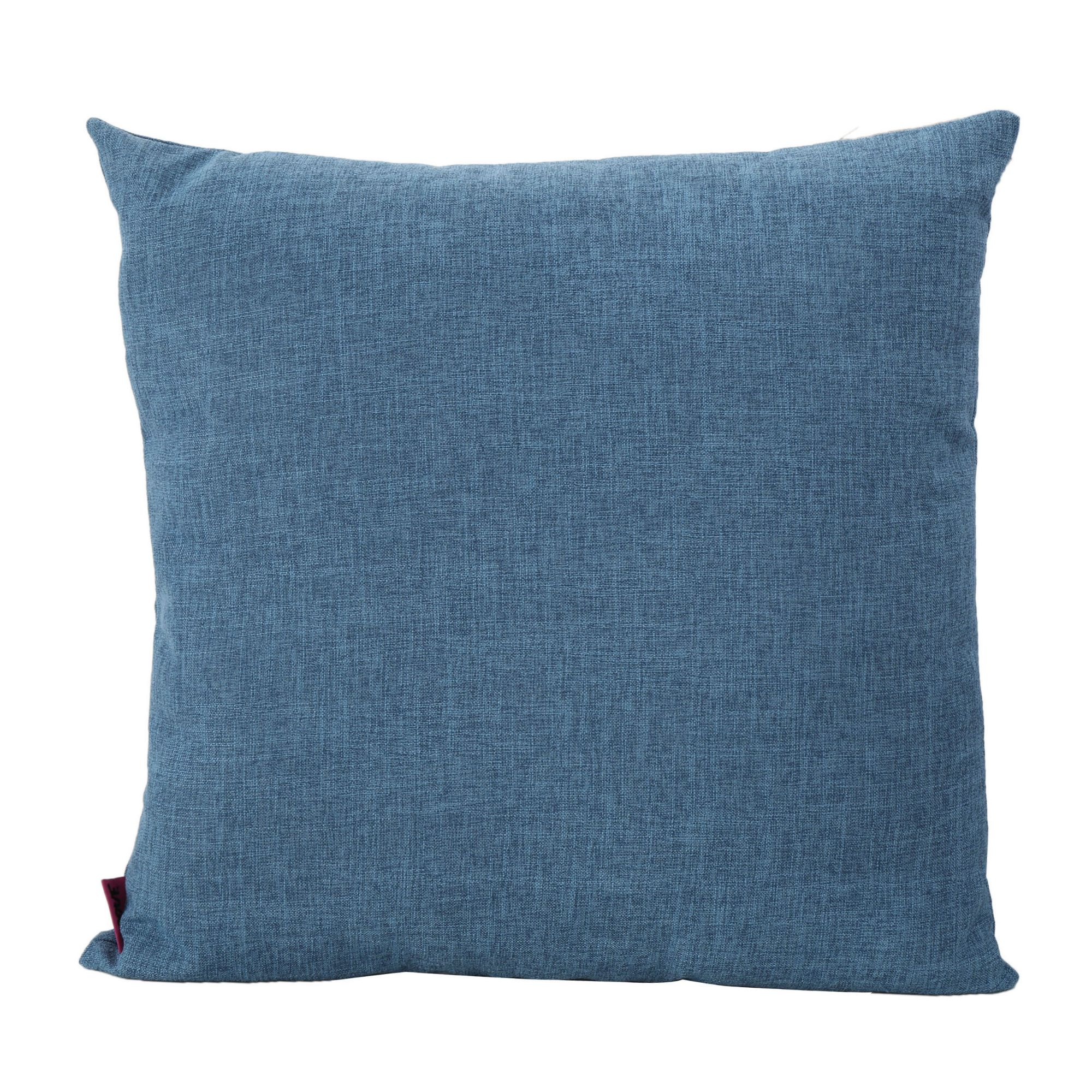 22 Muted Blue Contemporary Square Throw Pillow Walmart Com Walmart Com