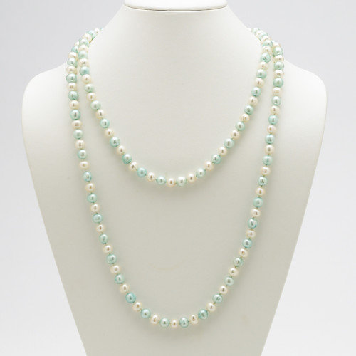 Palm Beach Jewelry Blue and White Cultured Pearl Necklace