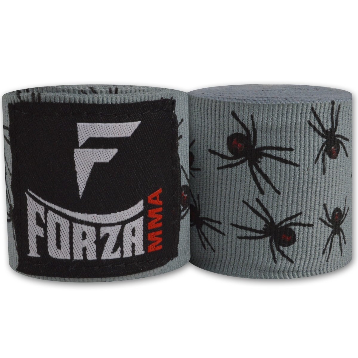 """Forza Sports 180"""" Mexican Style Boxing and MMA Handwraps - Spider Gray"""