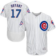 Kris Bryant Chicago Cubs Majestic Home Flex Base Authentic Collection Jersey with 100 Years at Wrigley Field