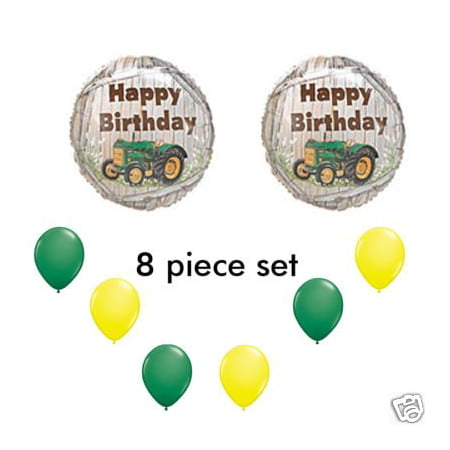 John Deere-LIKE Farm tractor Birthday Party Balloons Decorations Supplies - Tractor Birthday Supplies