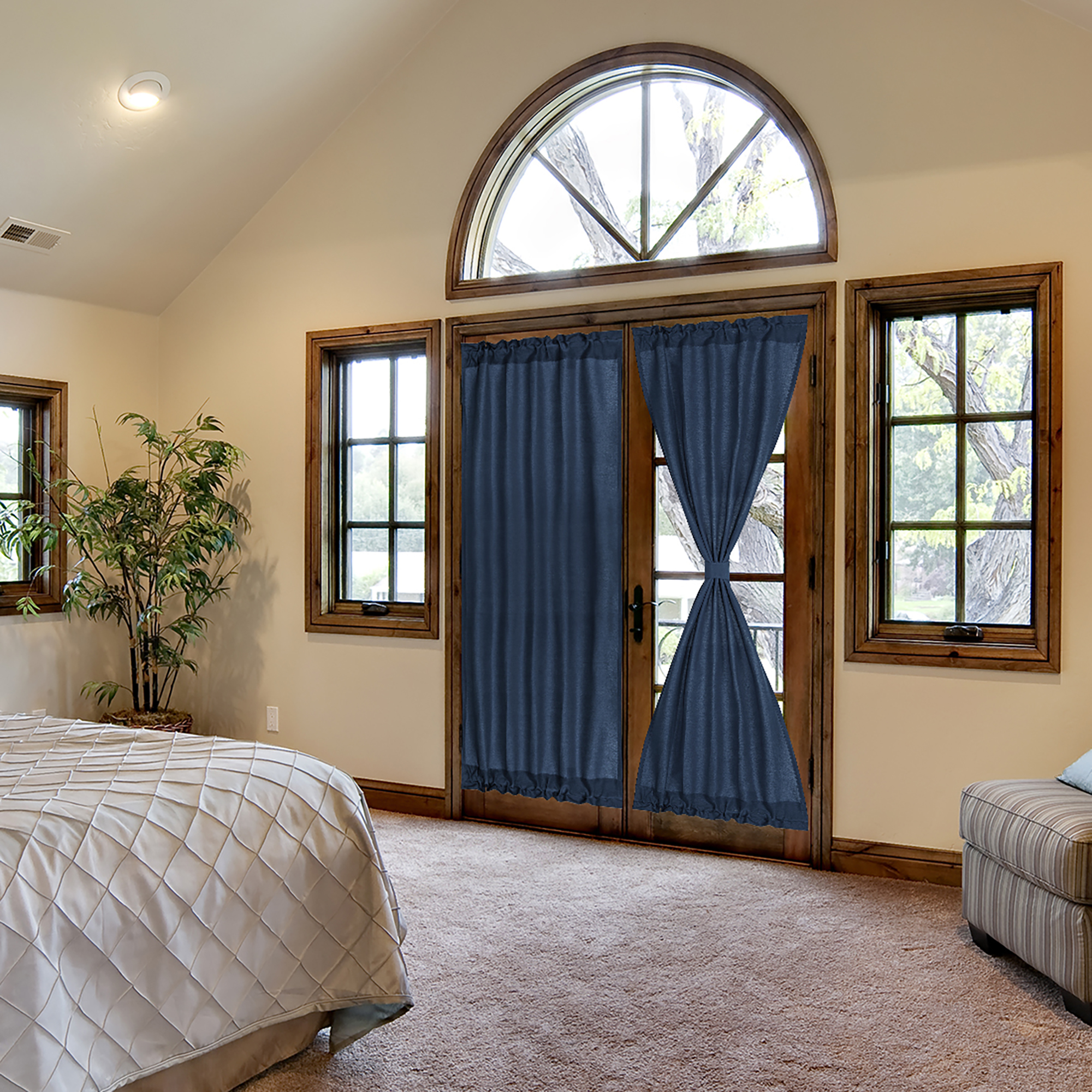 French Door Curtains Thermal Insulated