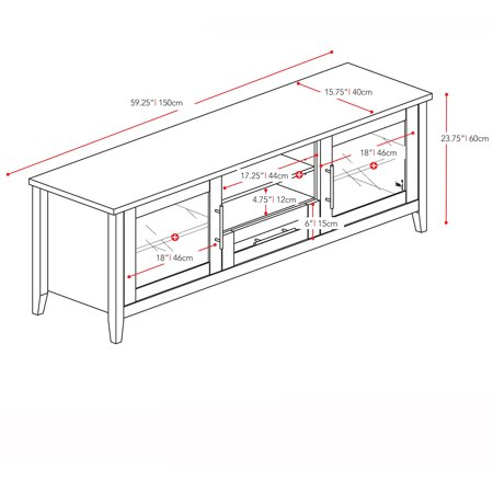 Corliving Jackson Espresso Tv Stand For Tvs Up To 65
