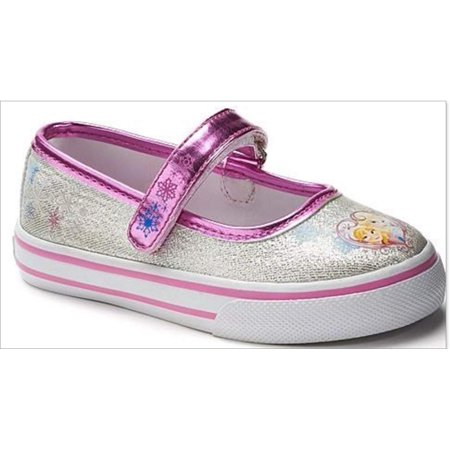 Frozen Anna & Elsa Toddler Girls Mary Jane Flats Pink Size 11 (Anna And Elsa Adult Costumes)