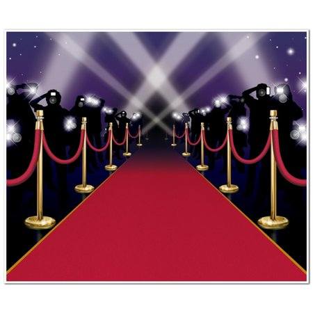 Pack of 6 Red Carpet and Paparazzi Mural Photo Backdrop Party Wall Decorations 6'