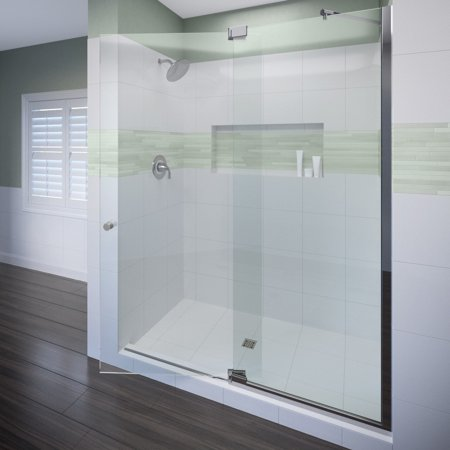 Miseno MSDF5476 76 High X 54 Wide Hinged Frameless Shower Door
