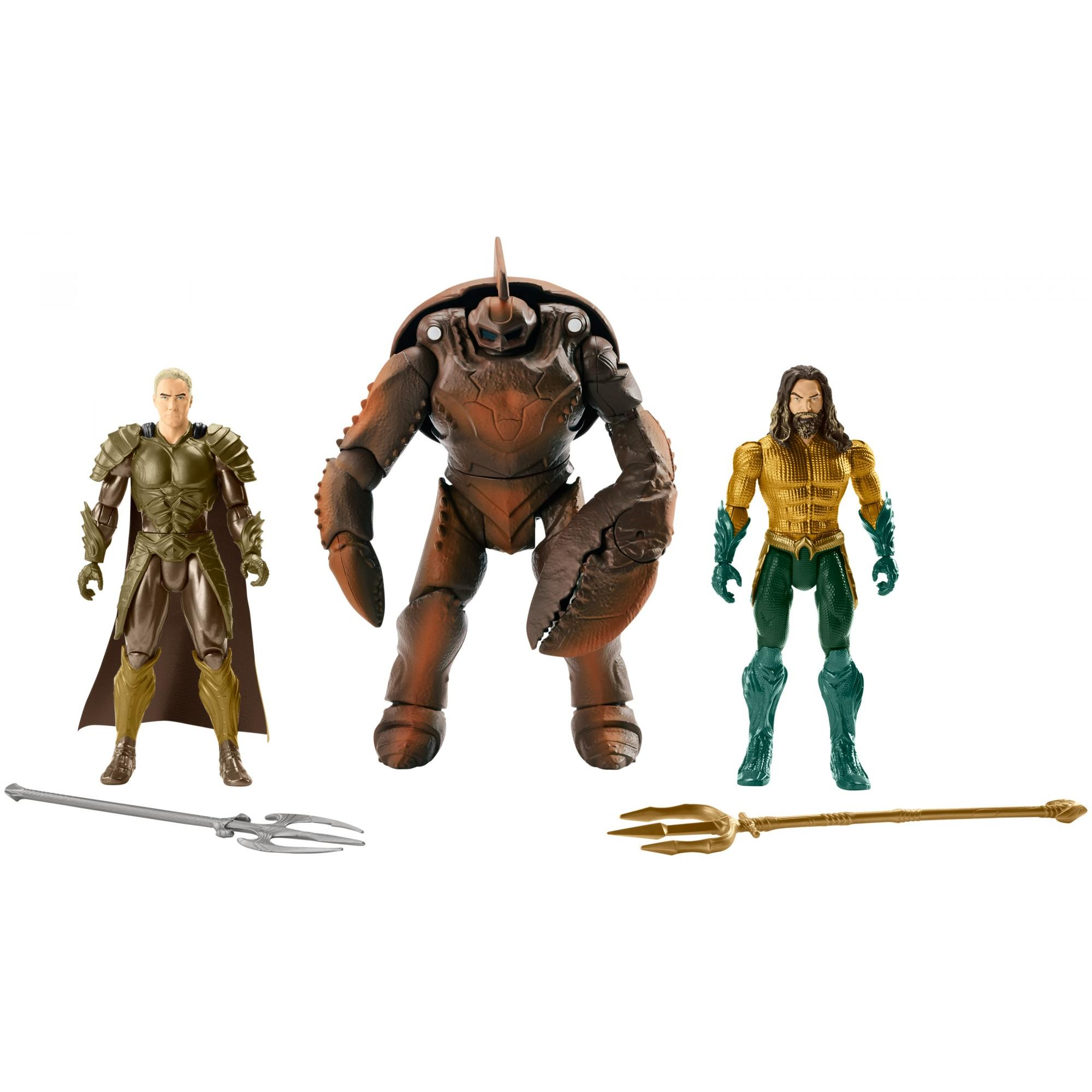 Aquaman Movie Action Figures 3-Pack with Aquaman, Orm, & Brine King