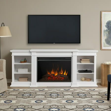 Eliot Grand Entertainment Center Electric Fireplace In White By