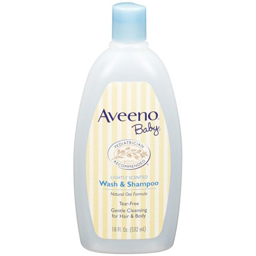 Aveeno Lightly Scented Wash & Baby Shampoo - 18 Fl Oz