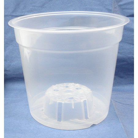 Rusty Orchid - Clear Plastic Teku Pot for Orchids 6 inch Diameter - Quantity 2