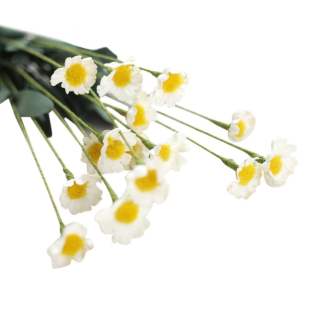 Mosunx Artificial Silk Fake Flowers Small Daisy Wedding Bouquet Party Home Decor