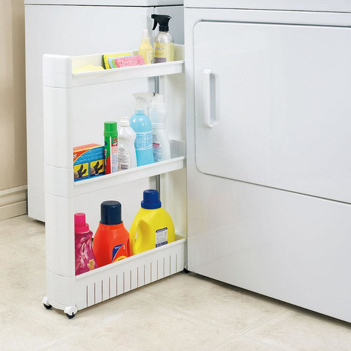 Pull Out 3-Tier Pantry Storage Cabinet with Rolling Wheels
