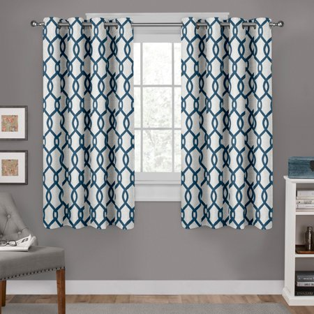 Exclusive Home Curtains 2 Pack Kochi Linen Blend Grommet Top Curtain (Home Linen)