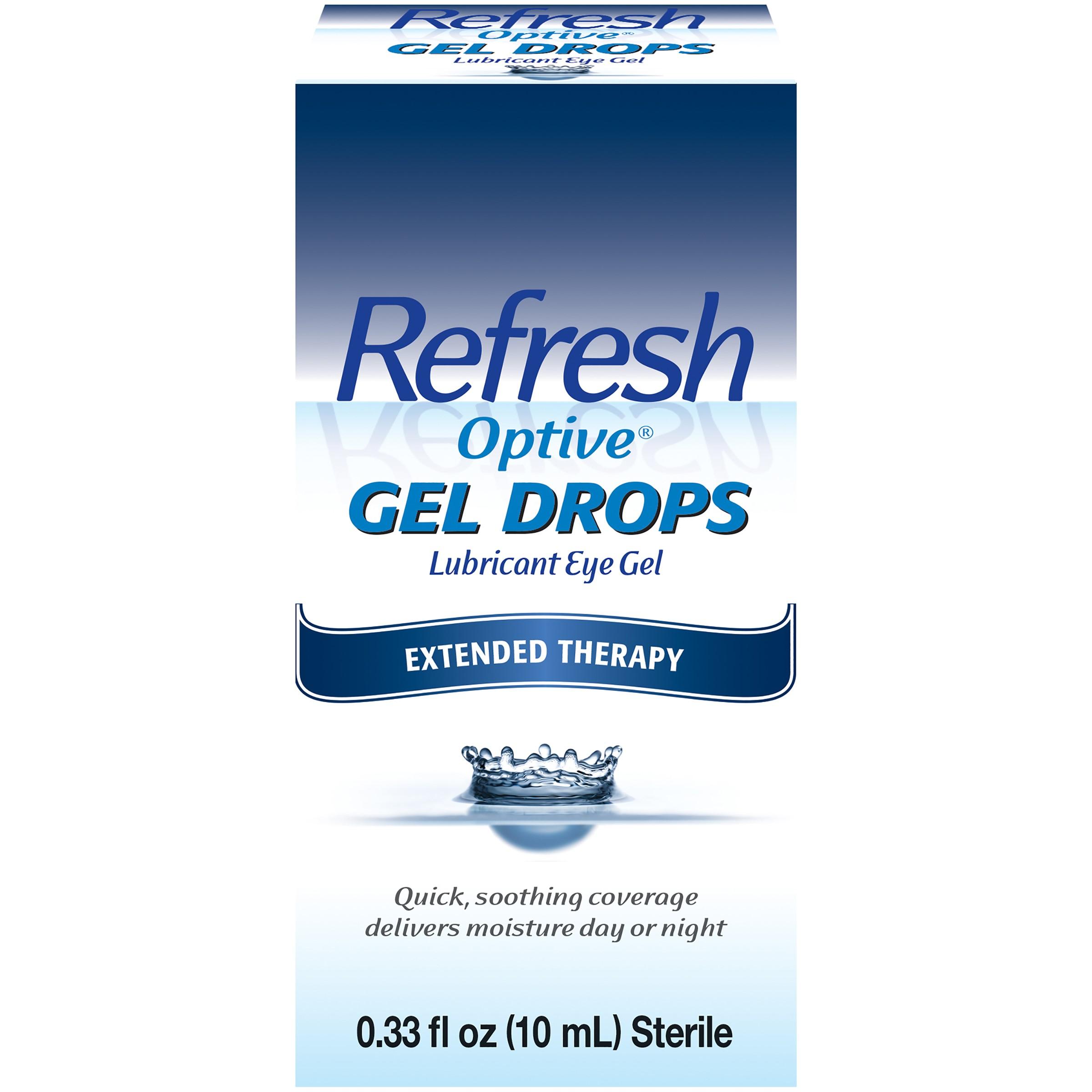 Refresh Optive Gel Drops Lubricant Eye Gel, 0.33 fl oz