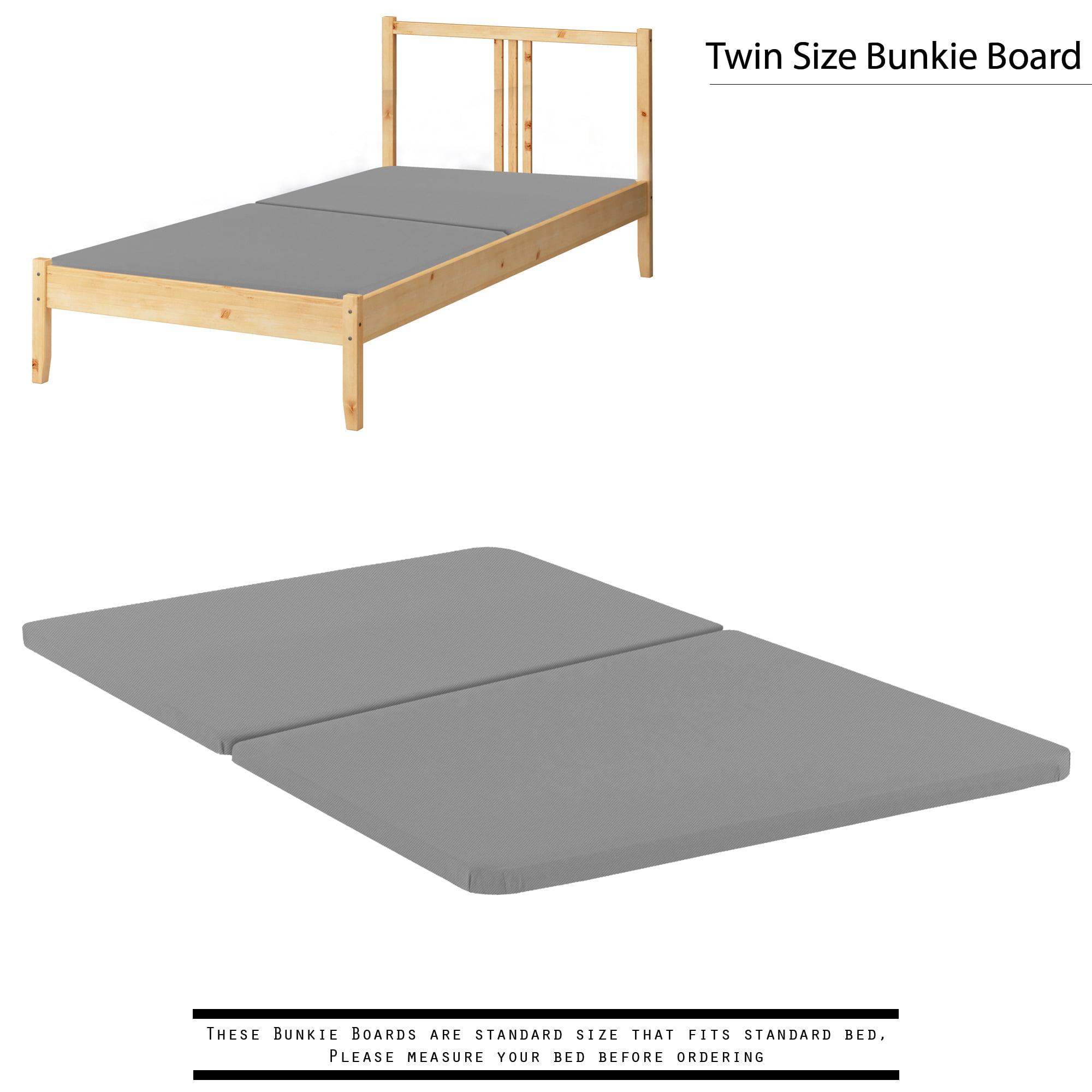 Spinal Solution 1 5 Inch Split Wood Bunkie Board Slats Mattress Bed Support Fits Standard Twin Walmart Com Walmart Com