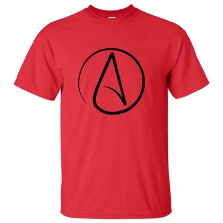 New Atheist Symbol T Shirt Tee Atheism Agnostic Science Darwin