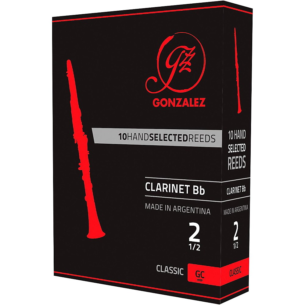 Gonzalez Classic Bb Clarinet Reeds Box of 10 Strength 3
