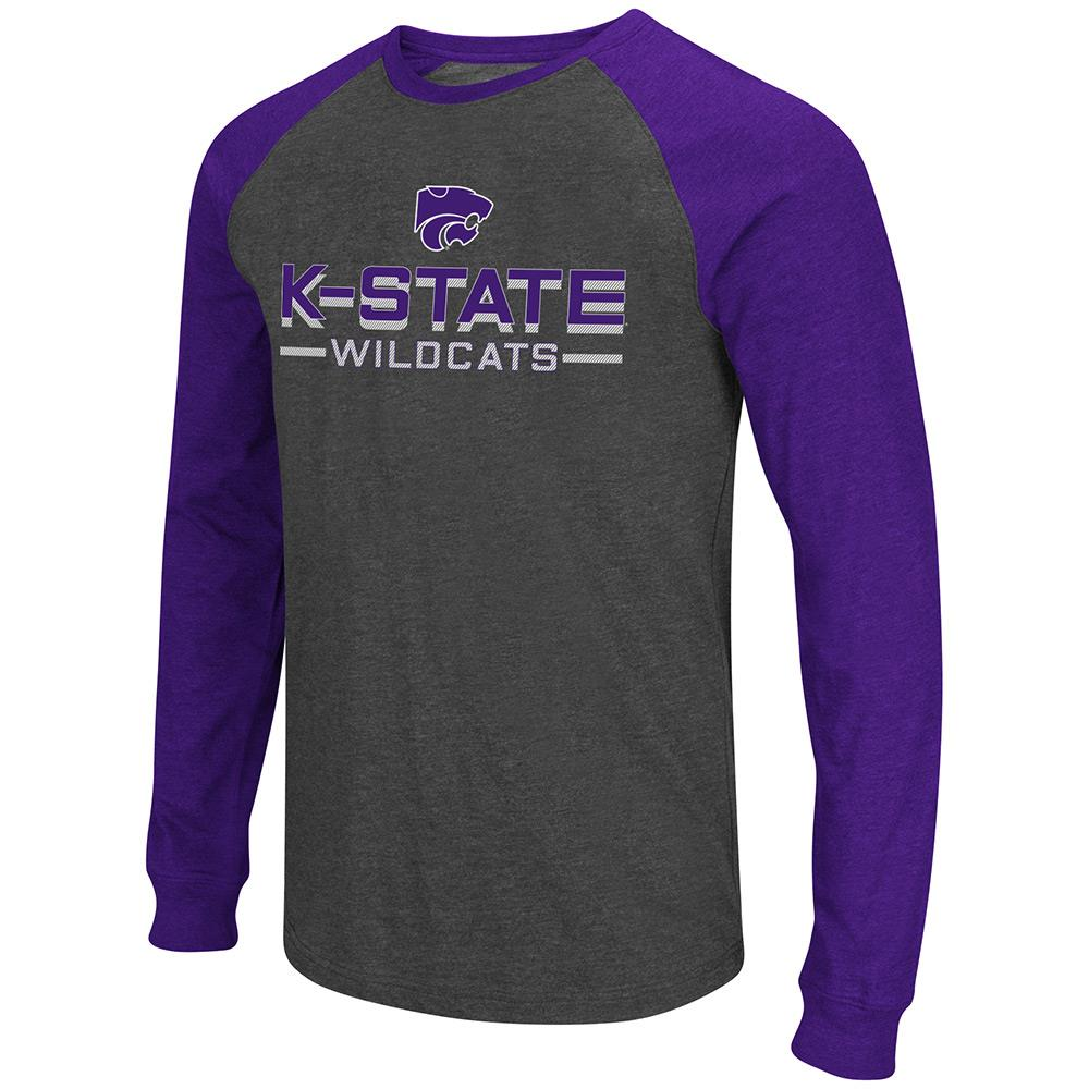 Mens NCAA Kansas State Wildcats Olympus II Long Sleeve Tee Shirt